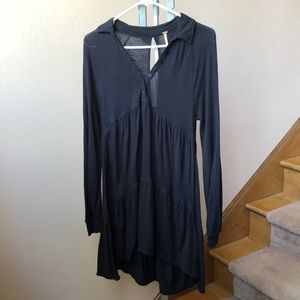 Black collared Free People dress